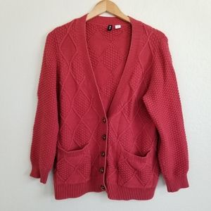 Urban Outfitters BDG Red Grandpa Cardigan Large